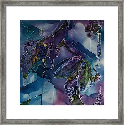 Wine Line Framed Print