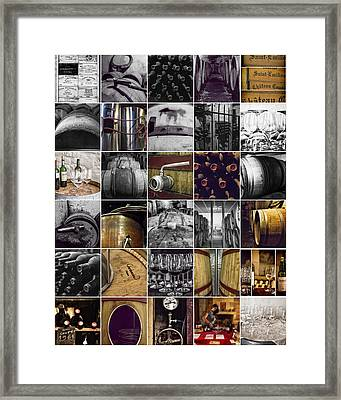 Wine Lovers Collage Framed Print by Georgia Fowler