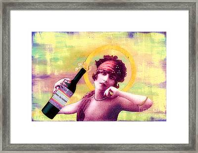 Framed Print featuring the painting Wine Of Love by Desiree Paquette