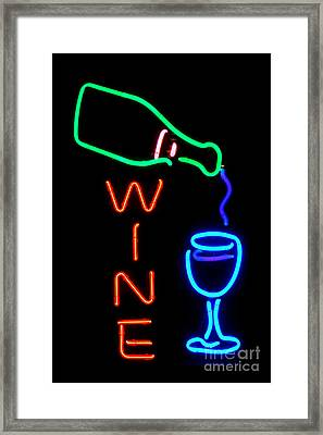 Wine Framed Print by Olivier Le Queinec