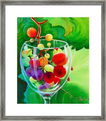 Wine On The Vine IIi Framed Print by Sandi Whetzel