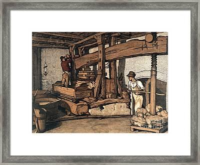 Wine Press 1890 Framed Print