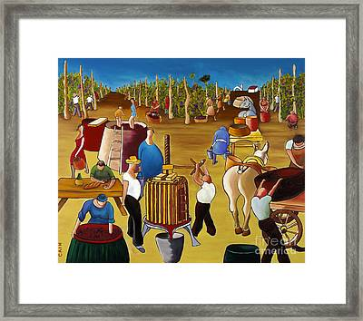 Wine Pressing 2  Framed Print