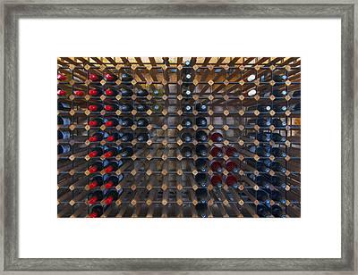 Wine Rack  Framed Print by Casey Grant