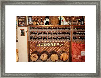 Wine Rack In The Cellar Room At The Swiss Hotel In Sonoma California 5d24451 Framed Print by Wingsdomain Art and Photography