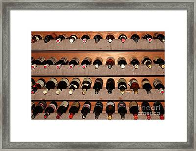 Wine Rack In The Private Dining Room At The Swiss Hotel In Sonoma California 5d24462 Framed Print by Wingsdomain Art and Photography