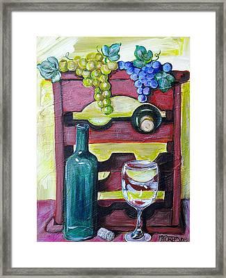 Wine Rack  Framed Print by Melissa Torres
