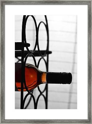 Wine Rack Framed Print by Tommytechno Sweden