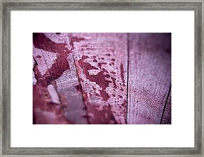 Wine Red Framed Print