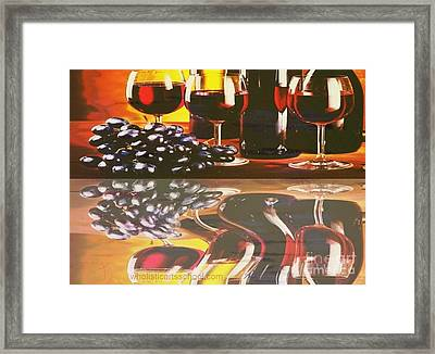 Wine Reflections Framed Print by PainterArtist FIN
