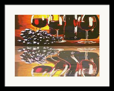 Wine Pooring Framed Prints