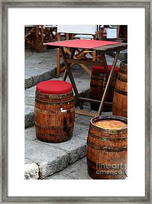 Wine Seats Framed Print by John Rizzuto