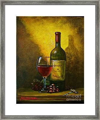 Wine Shadow Ombra Di Vino Framed Print