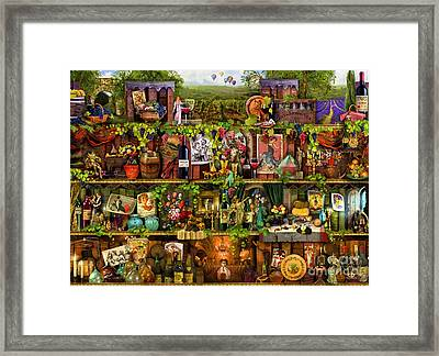 Wine Shelf Framed Print by Aimee Stewart