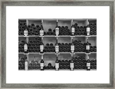 Wine Shelf Framed Print by Georgia Fowler