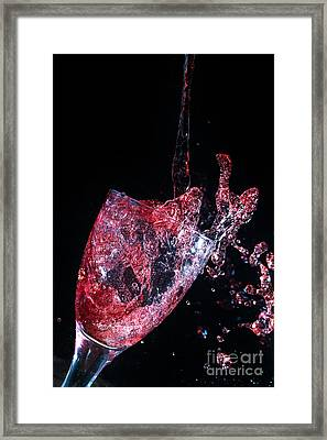 Wine Spillage Frozen In Time Framed Print by Simon Bratt Photography LRPS