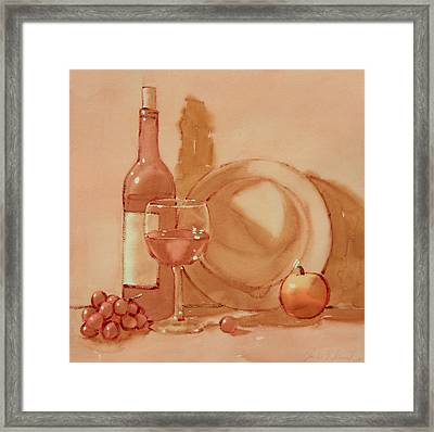 Wine Still Life Framed Print by Joe Schneider