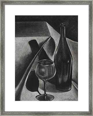 Wine Still Life Framed Print by Michelle L Bolin