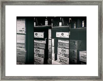 Wine Store Inside Collage Framed Print by Georgia Fowler