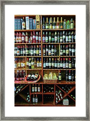 Framed Print featuring the photograph Wine Store Provence France by Dave Mills