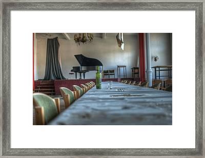 Wine Table Framed Print