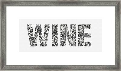 Wine Framed Print by Tammy Apple