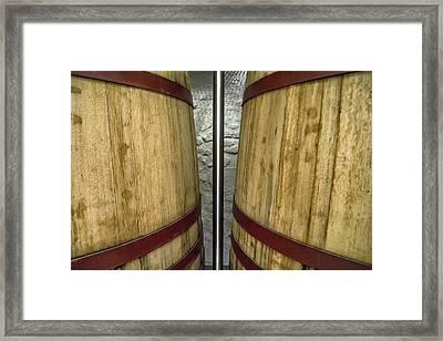 Wine Tanks Framed Print by Georgia Fowler
