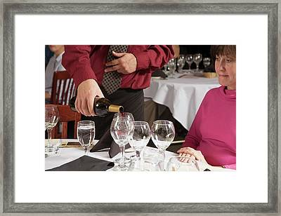 Wine Taster Framed Print