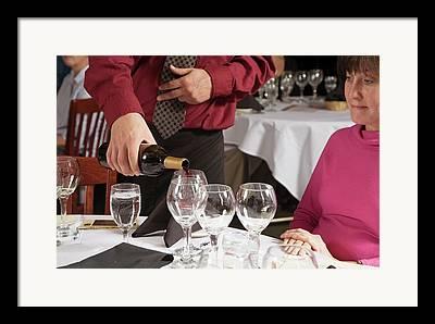 Women Tasting Wine Framed Prints