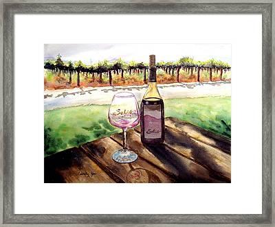 Wine Tasting Framed Print by Candy Yu