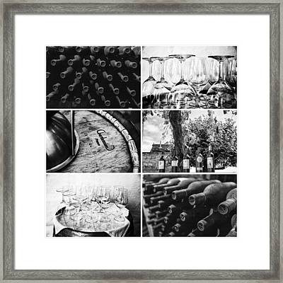 Wine Tasting Collage Framed Print by Georgia Fowler