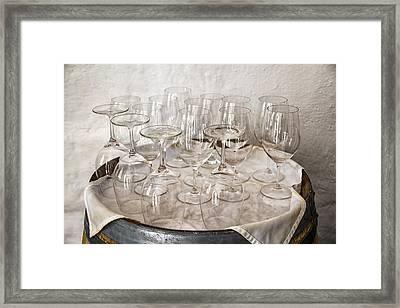 Wine Tasting Glasses Framed Print by Georgia Fowler