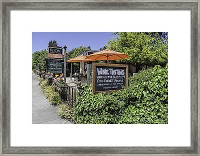 Wine Tasting Framed Print by Karen Stephenson