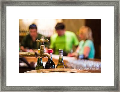 Wine Tasting Framed Print by Pavel Prichystal
