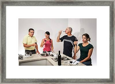 Wine Tasting Research Framed Print