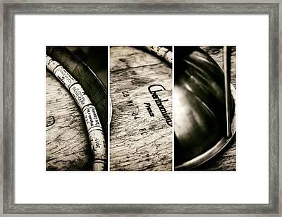 Wine Tasting Triptych Framed Print