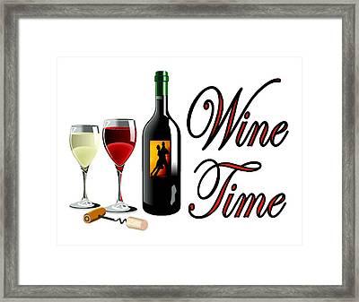 Wine Time Framed Print by Bern Hopkins