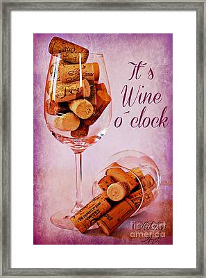 Wine Time Framed Print by Clare Bevan