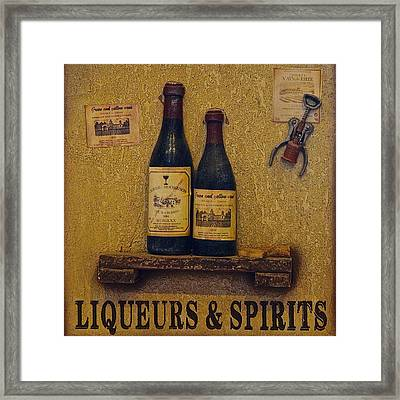 Wine Time Framed Print by Frozen in Time Fine Art Photography
