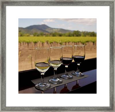 Wine Train Tasting Framed Print by Michele Myers