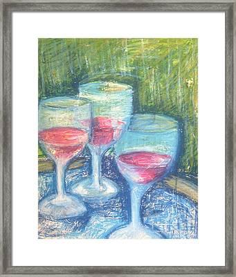 Wine Trio Framed Print