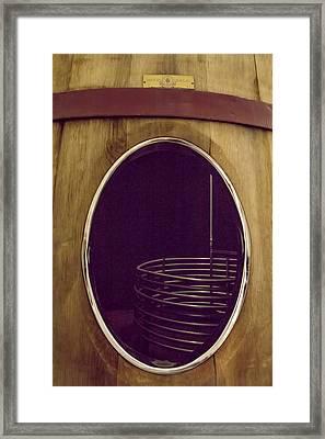 Wine Vat Framed Print by Georgia Fowler