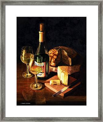 Wine With Cheese Framed Print by Douglas Castleman