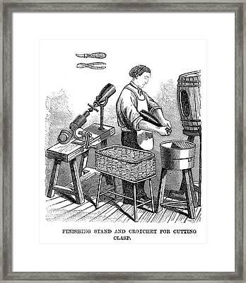 Winemaking Finishing, 1866 Framed Print by Granger