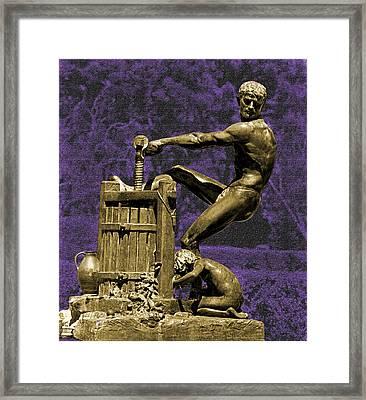 Winepress Framed Print by Mike Flynn