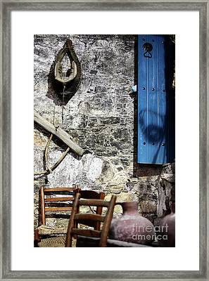 Winery In Ayios Neophytos Framed Print by John Rizzuto