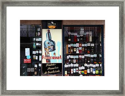 Wines And Ports For Sale Portugal Framed Print by James Brunker