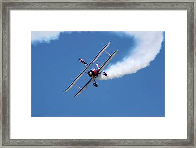 Wing-walking Display Framed Print by Jim West