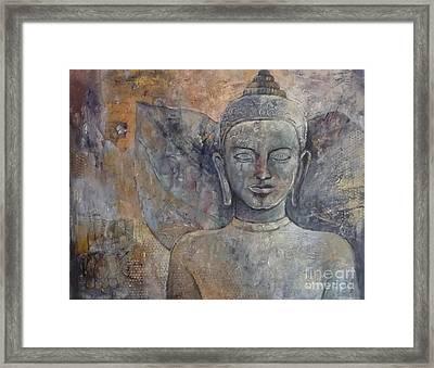 Winged Buddha Framed Print by Paulina Garoa