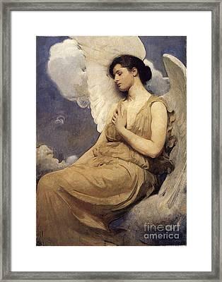 Winged Figure Framed Print